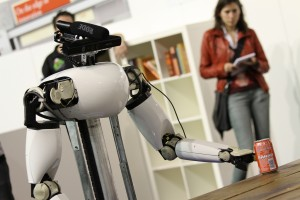 Service robot AMIGO (Eindhoven University of Technology) in the @Home-League.  Photo: Paul Bloemen