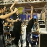 Cheering winners at RoboCup Dutch Open 2012.  Photo: Paul Bloemen