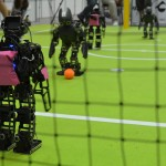 Humanoid Kid Size League match at RoboCup 2011. Photo: Viktor Orekhov