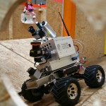 Robot Hector from Technische Universität Darmstadt in the Rescue League. Photo: Michael Tandy