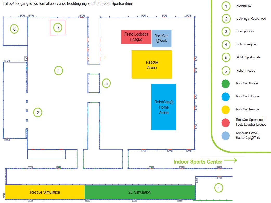 RoboCup 2013 - Plattegrond Indoor Sportcentrum - Tent