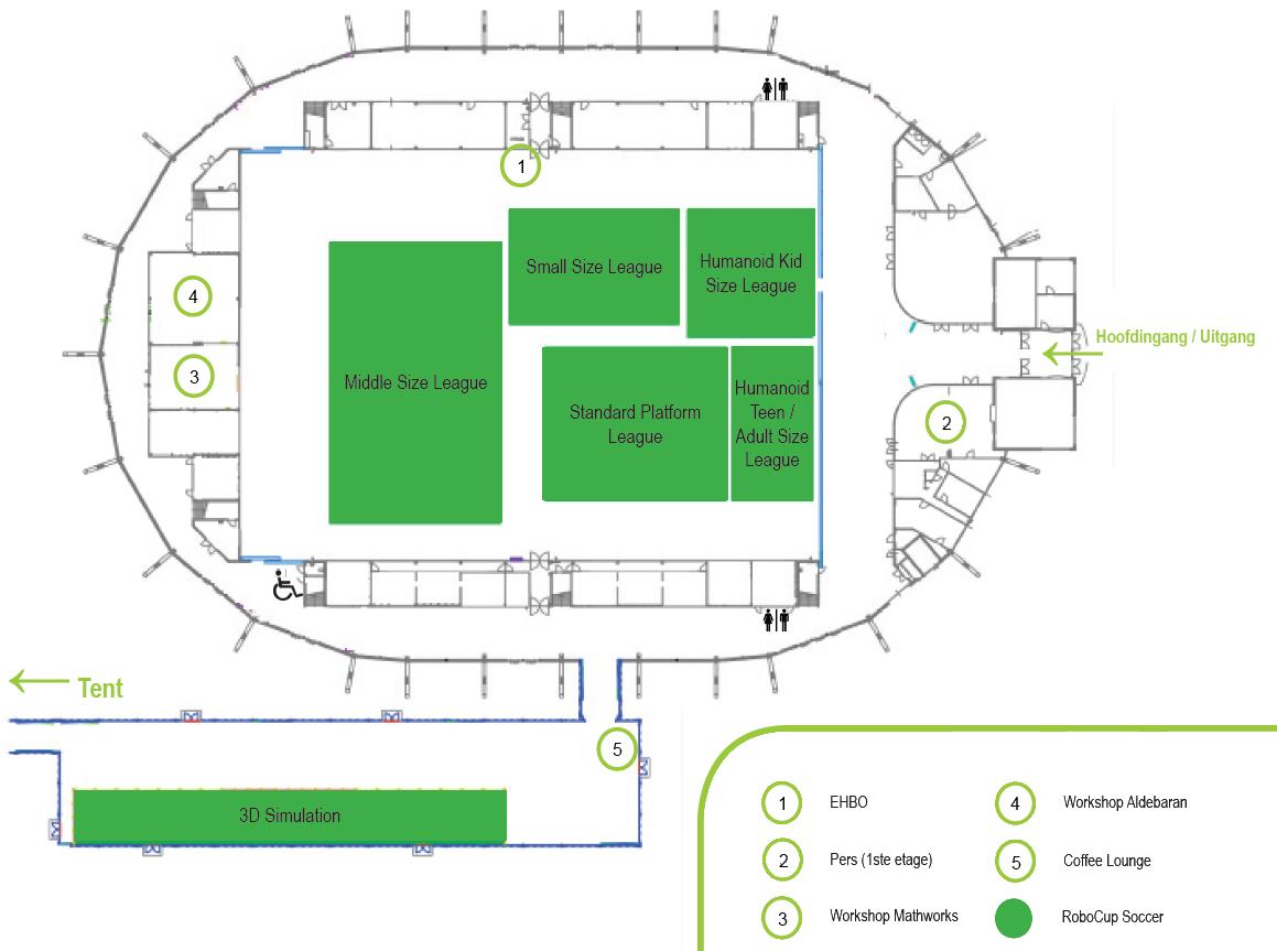 RoboCup 2013 - Plattegrond Indoor Sportcentrum